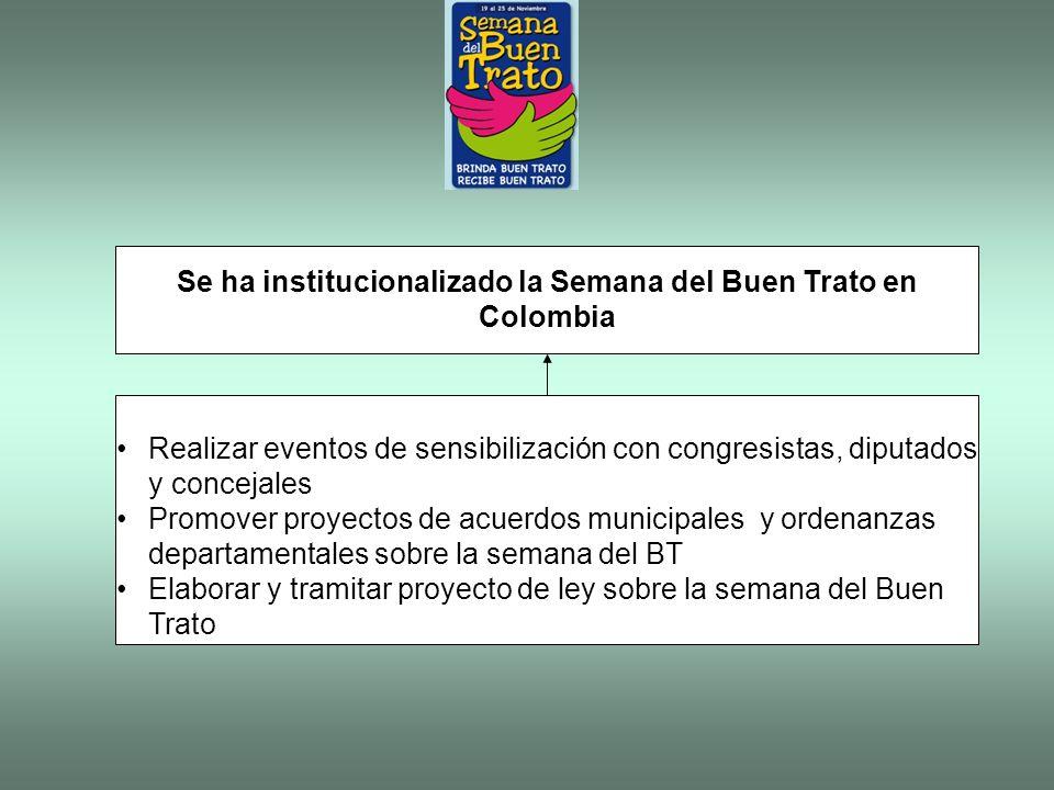 Se ha institucionalizado la Semana del Buen Trato en Colombia