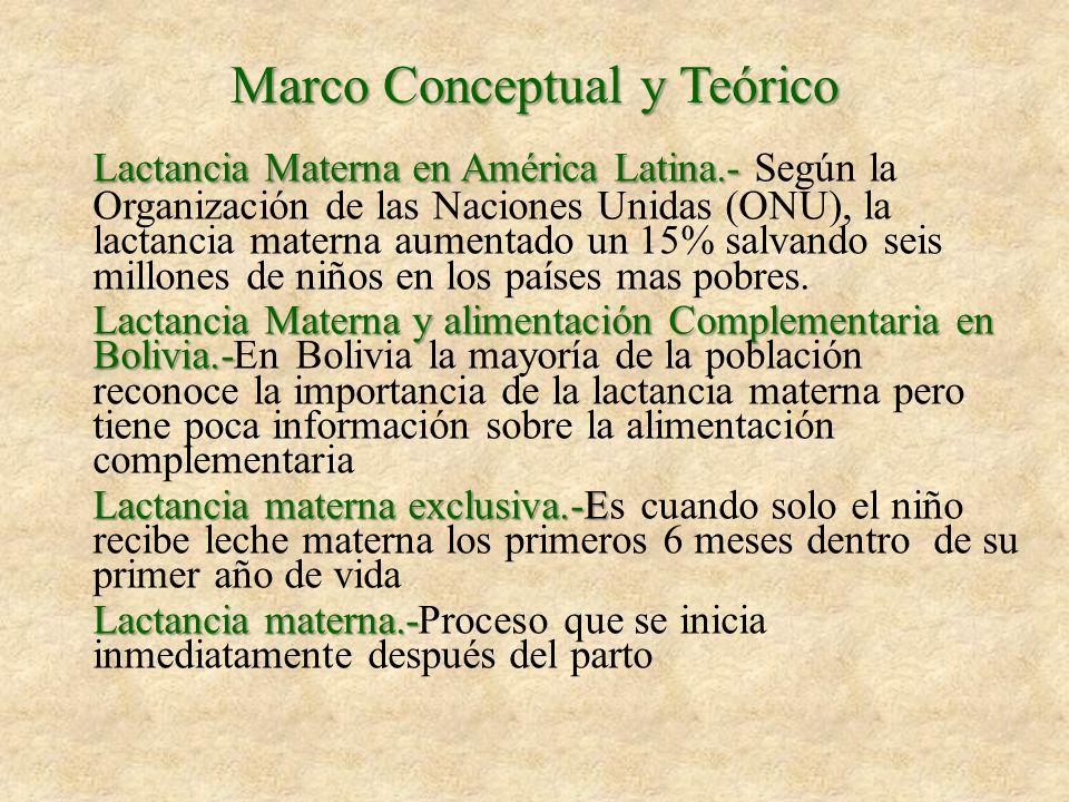Marco Conceptual y Teórico