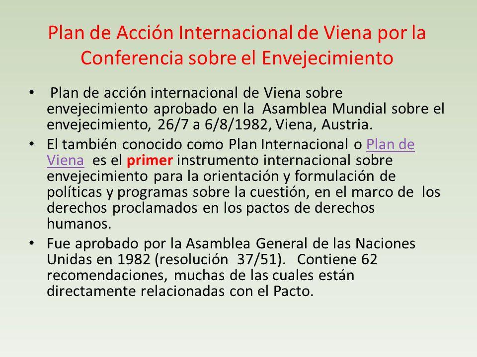Plan de Acción Internacional de Viena por la Conferencia sobre el Envejecimiento