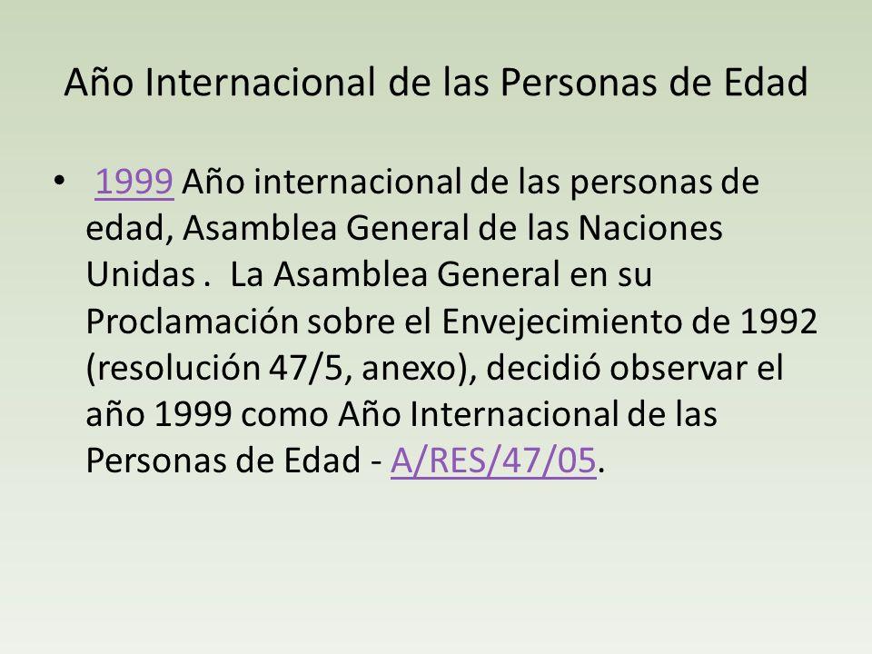 Año Internacional de las Personas de Edad