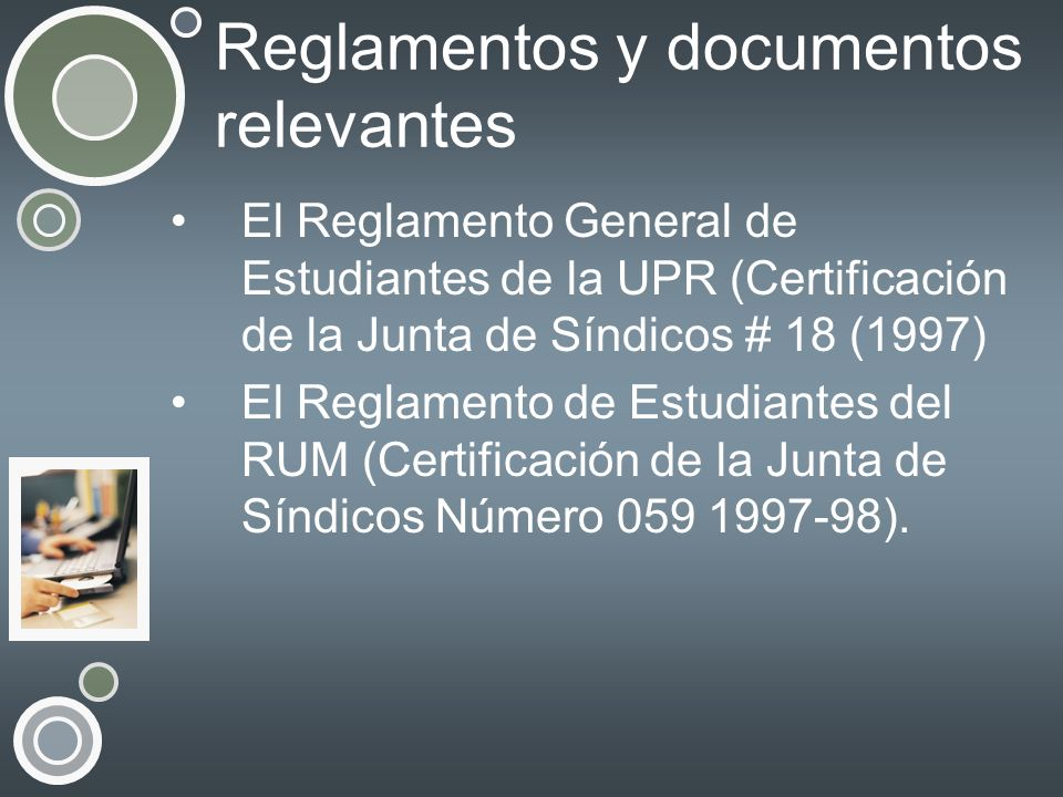 Reglamentos y documentos relevantes