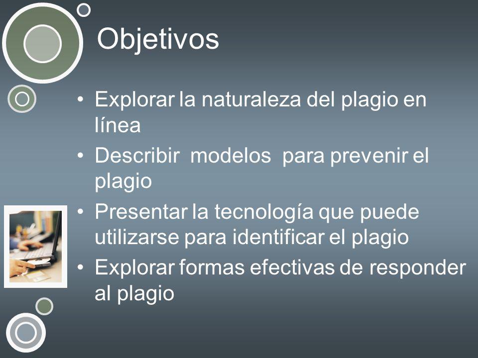 Objetivos Explorar la naturaleza del plagio en línea