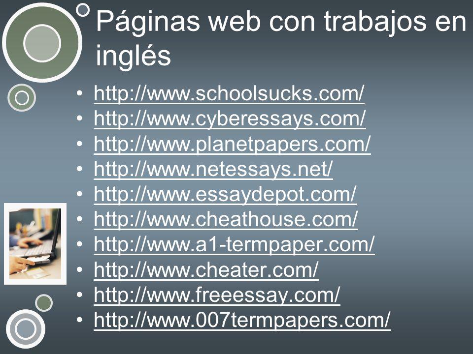 Páginas web con trabajos en inglés