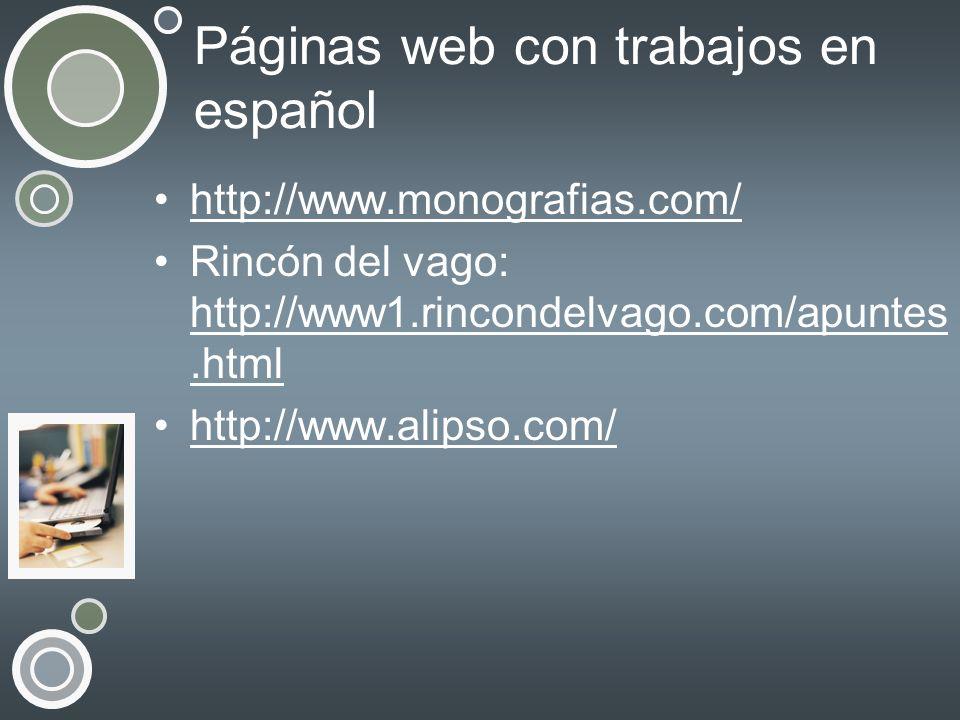 Páginas web con trabajos en español