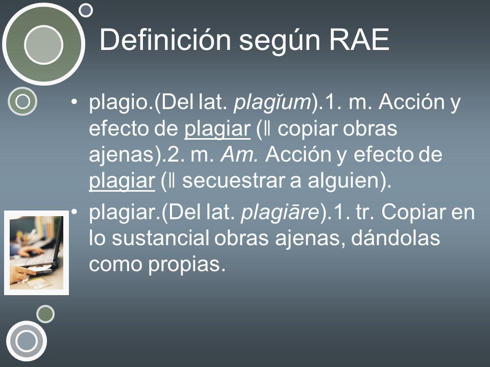 Definición según RAE