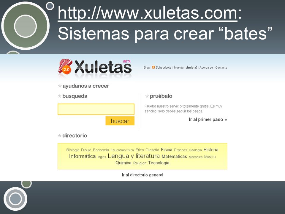 http://www.xuletas.com: Sistemas para crear bates