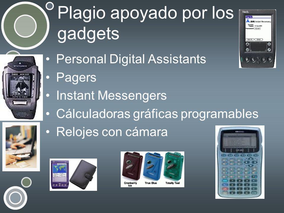 Plagio apoyado por los gadgets