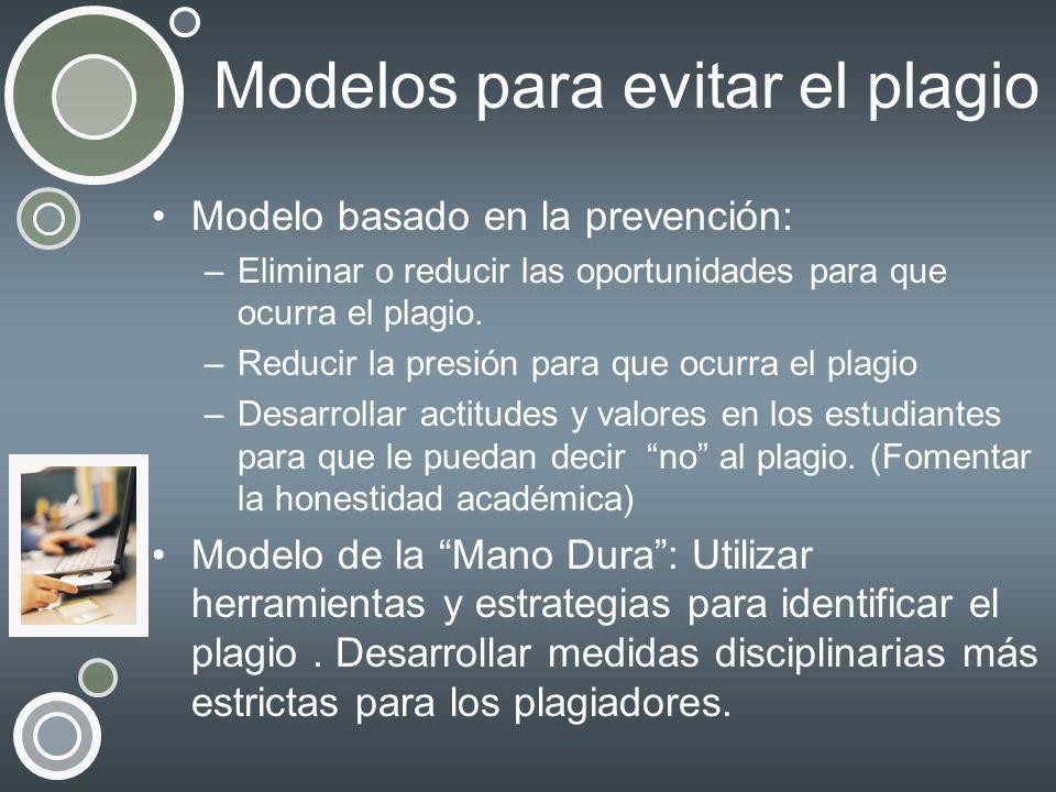 Modelos para evitar el plagio