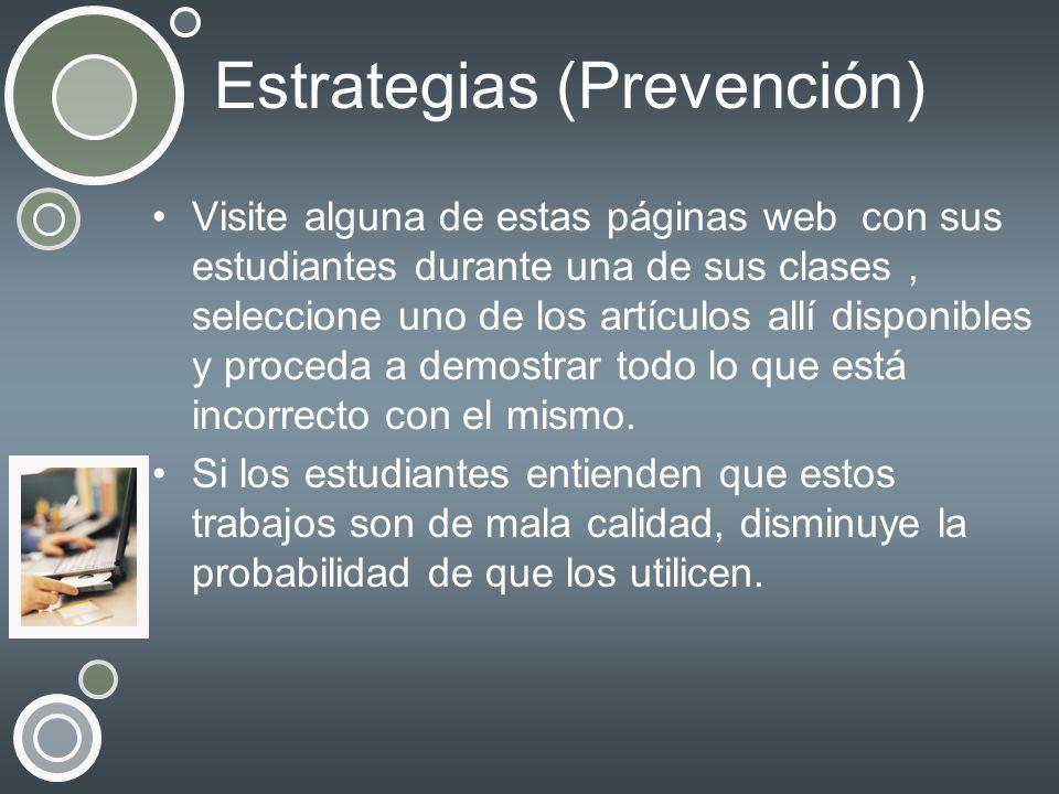 Estrategias (Prevención)