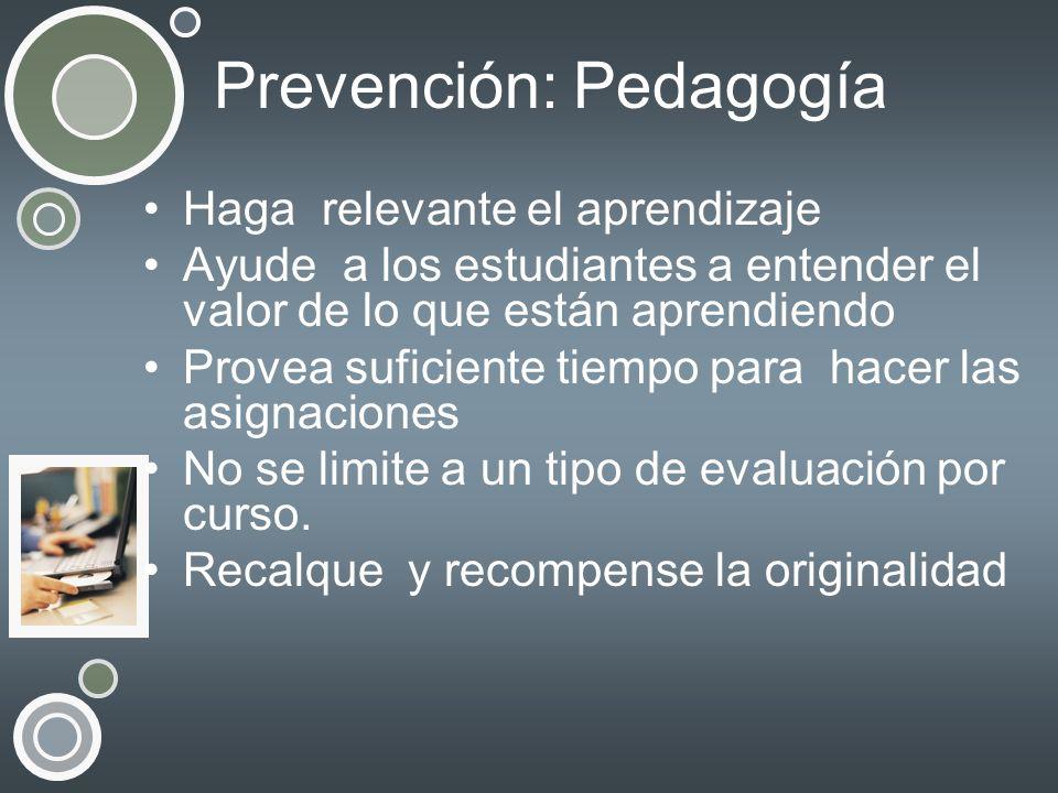 Prevención: Pedagogía