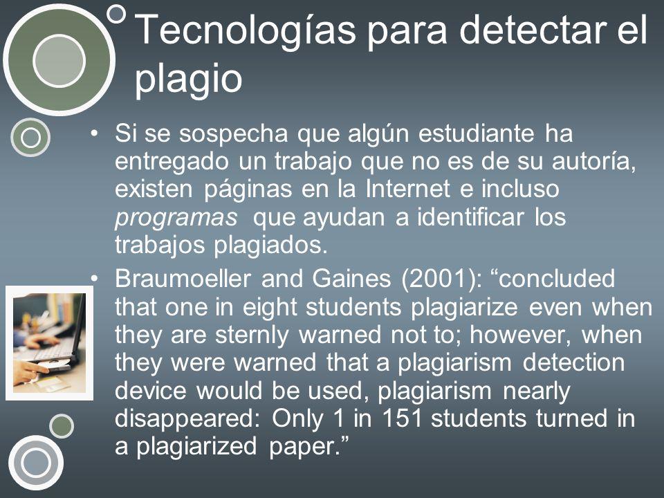 Tecnologías para detectar el plagio
