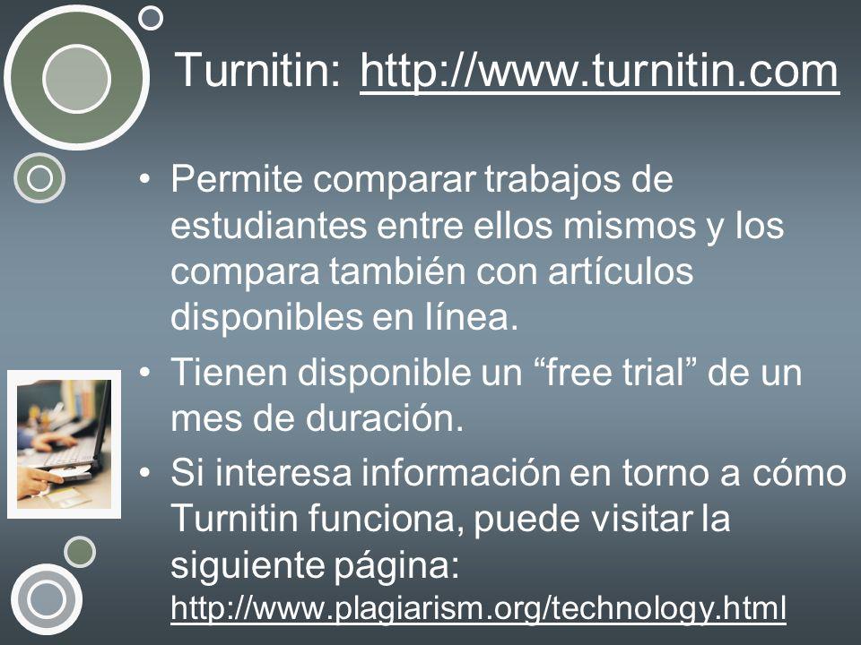 Turnitin: http://www.turnitin.com