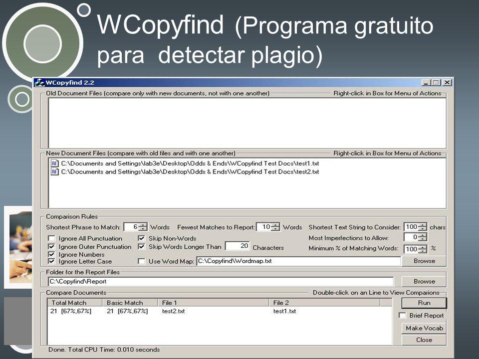 WCopyfind (Programa gratuito para detectar plagio)