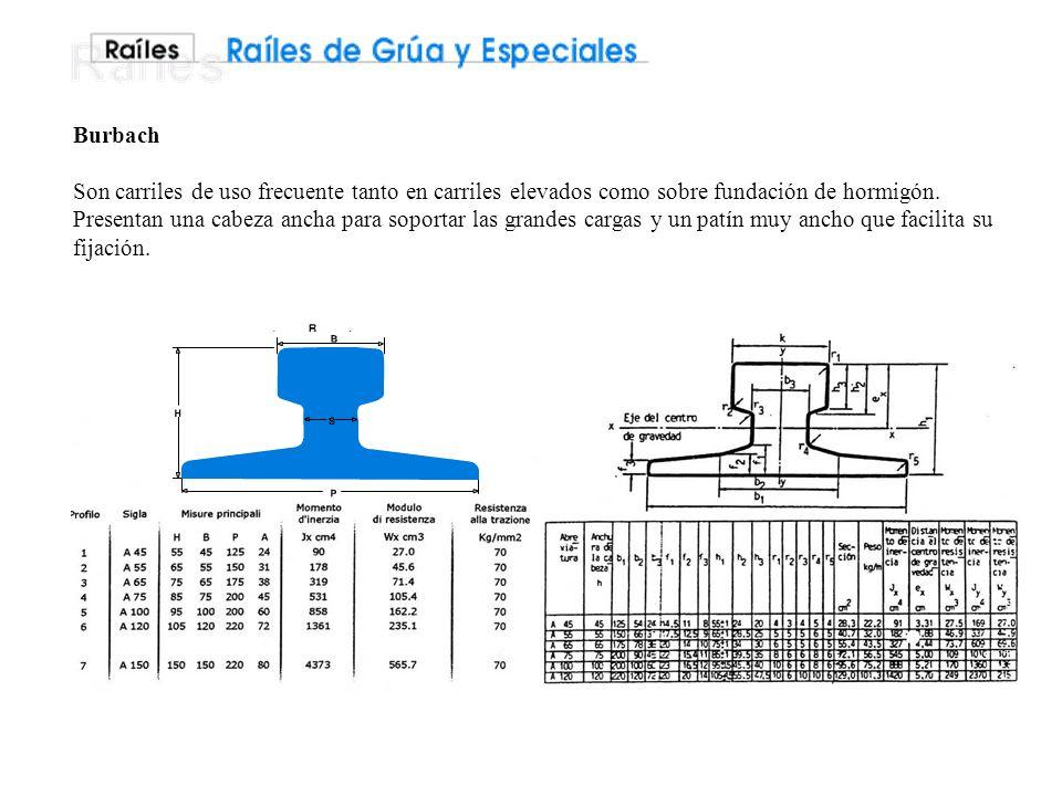 Burbach Son carriles de uso frecuente tanto en carriles elevados como sobre fundación de hormigón.