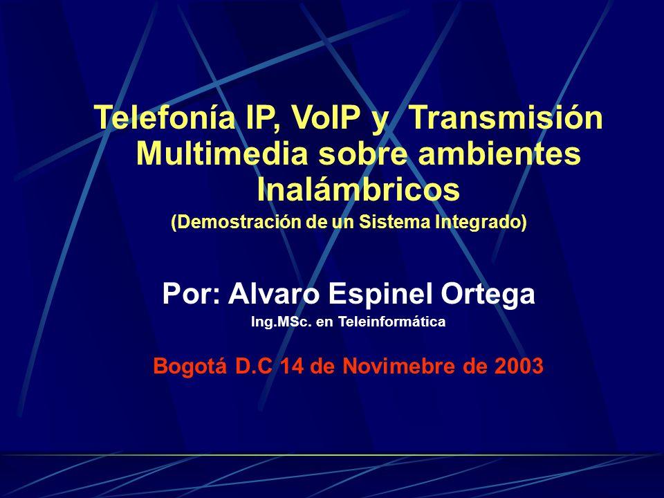 Telefonía IP, VoIP y Transmisión Multimedia sobre ambientes Inalámbricos
