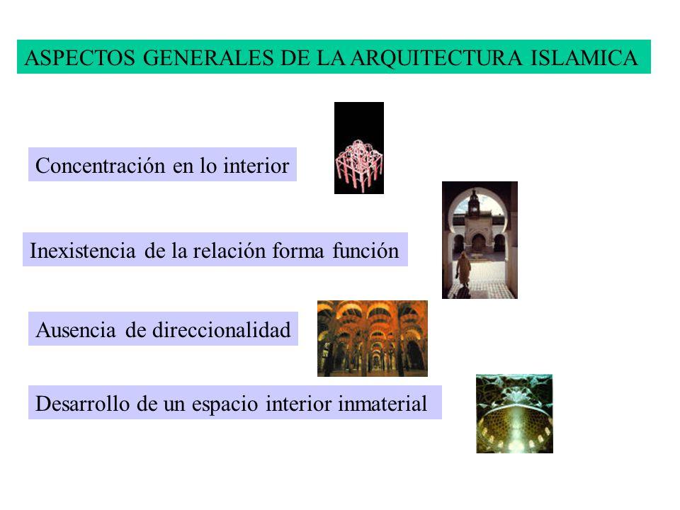 ASPECTOS GENERALES DE LA ARQUITECTURA ISLAMICA