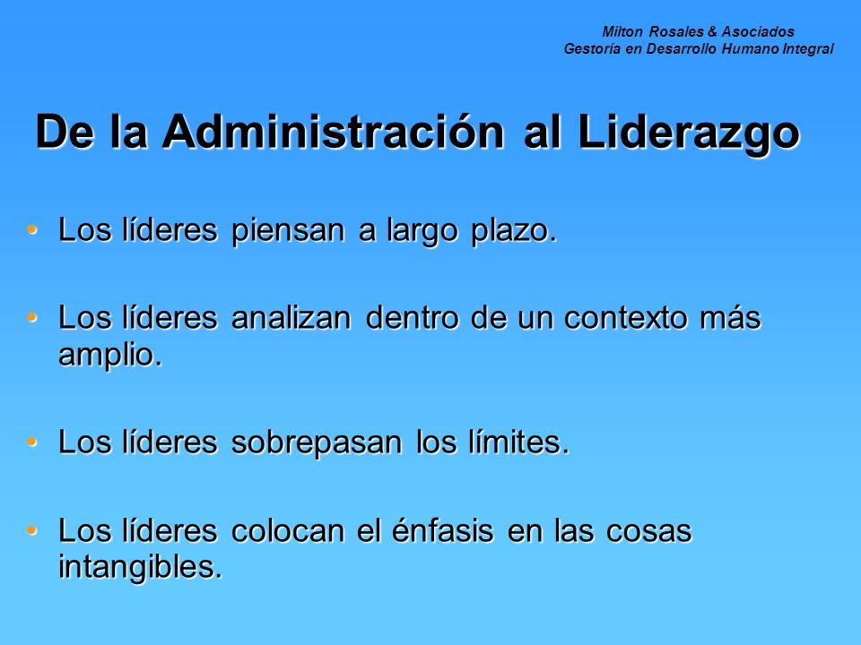 De la Administración al Liderazgo