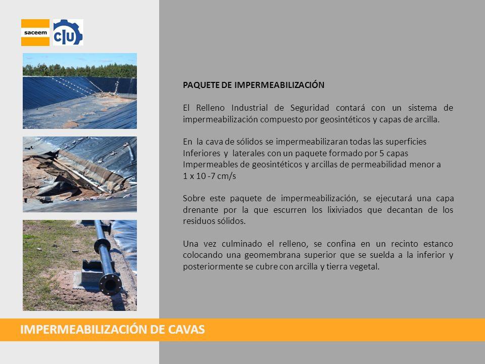 IMPERMEABILIZACIÓN DE CAVAS