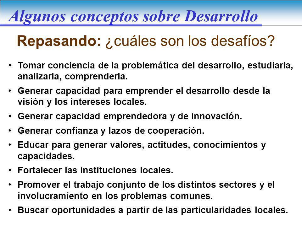 Algunos conceptos sobre Desarrollo