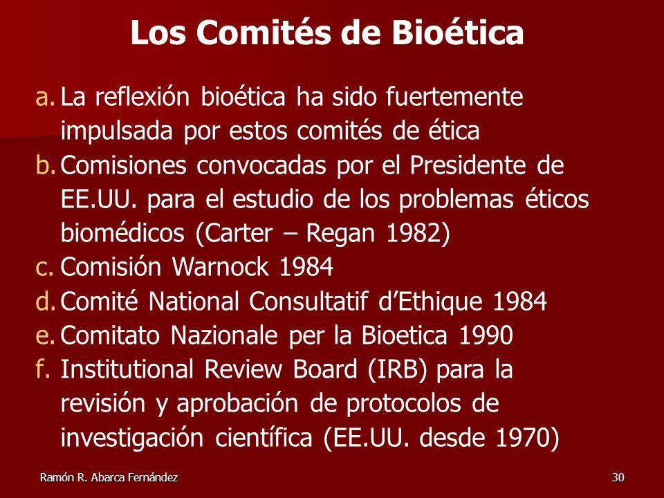 Los Comités de Bioética