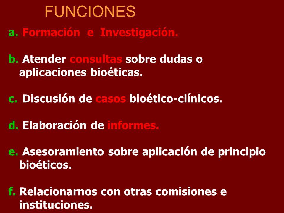 FUNCIONES Formación e Investigación.