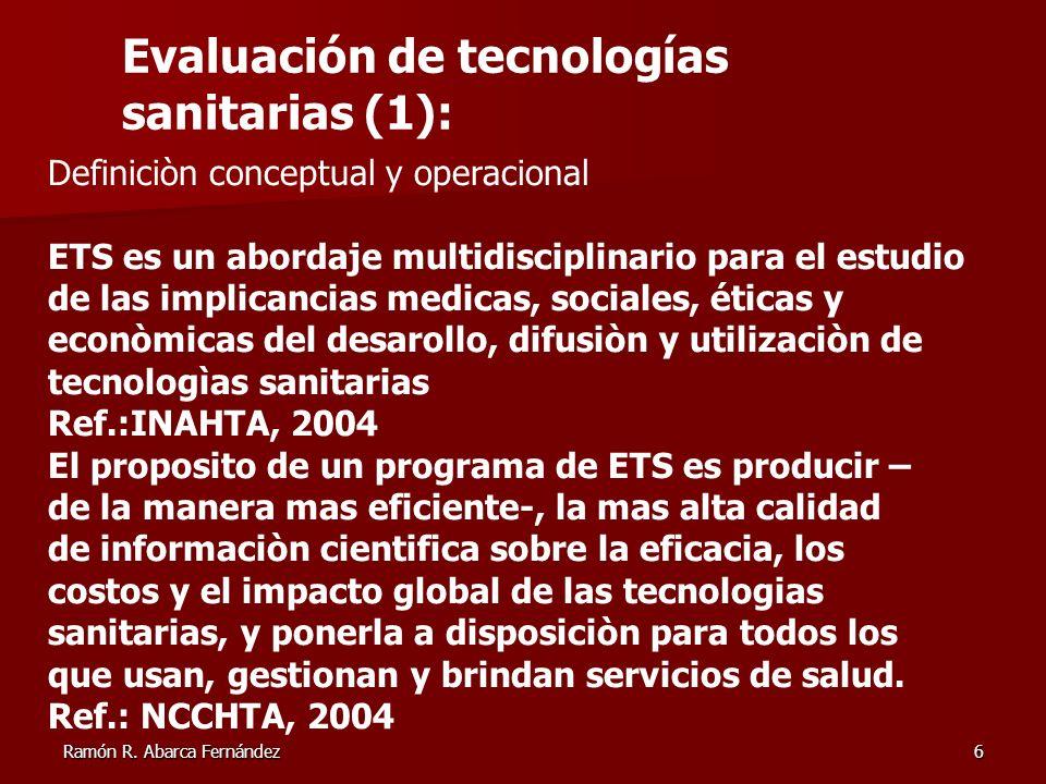 Evaluación de tecnologías sanitarias (1):