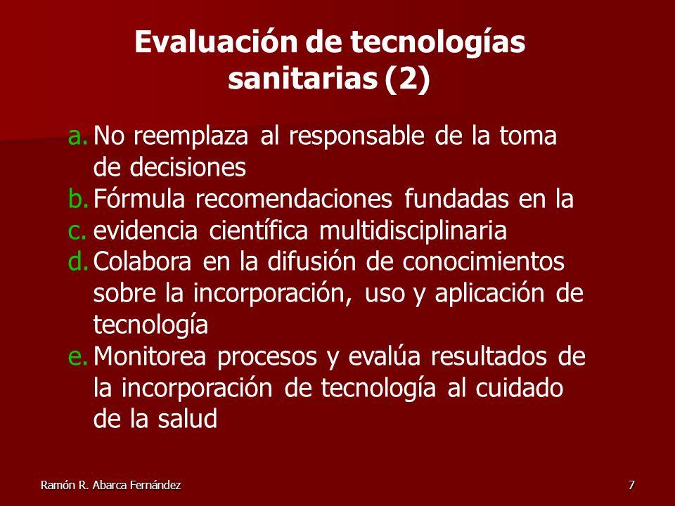 Evaluación de tecnologías