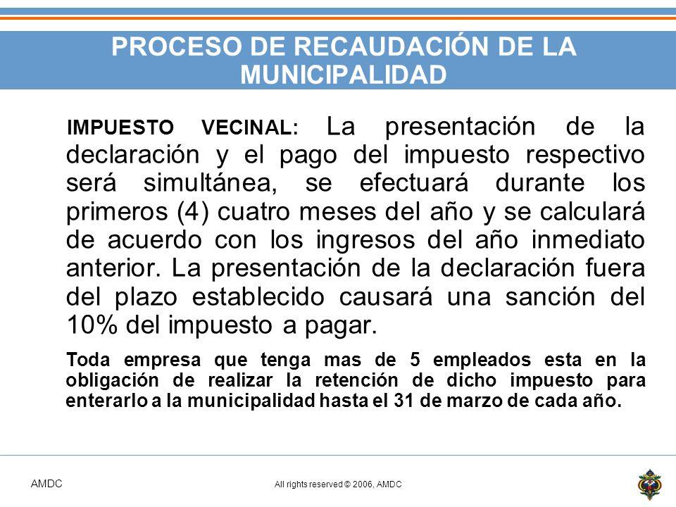 PROCESO DE RECAUDACIÓN DE LA MUNICIPALIDAD