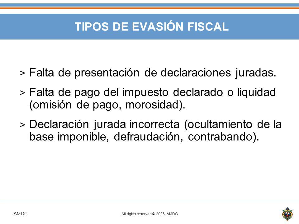 TIPOS DE EVASIÓN FISCAL