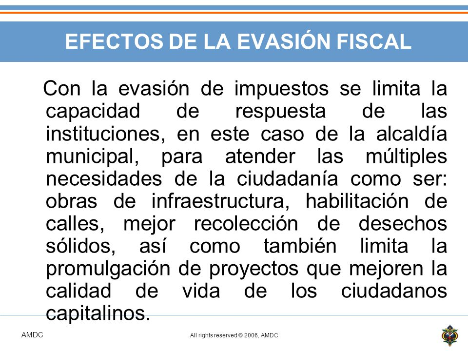 EFECTOS DE LA EVASIÓN FISCAL