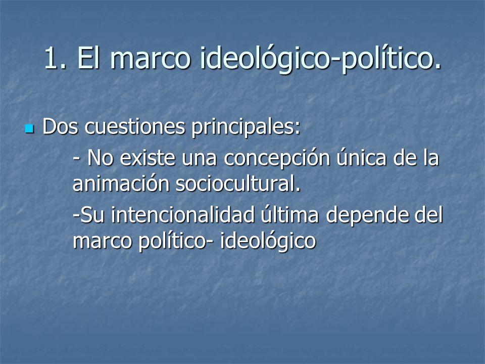 1. El marco ideológico-político.