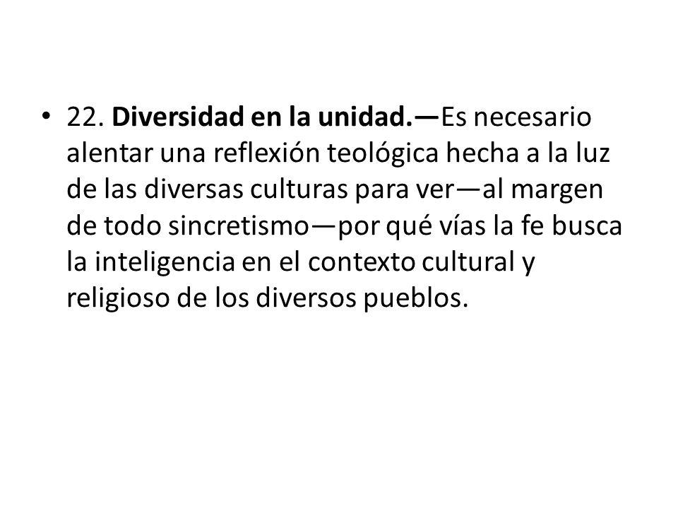 22. Diversidad en la unidad