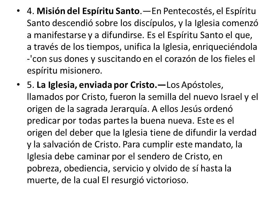 4. Misión del Espíritu Santo