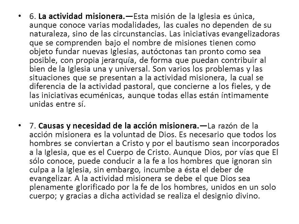 6. La actividad misionera