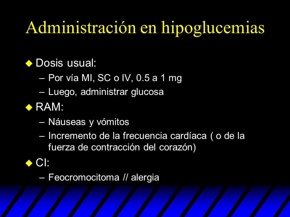 Administración en hipoglucemias