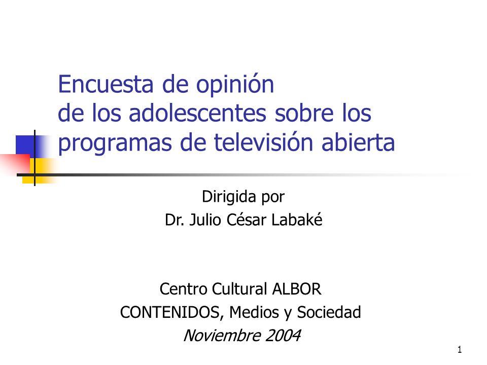 Centro Cultural ALBOR CONTENIDOS, Medios y Sociedad Noviembre 2004