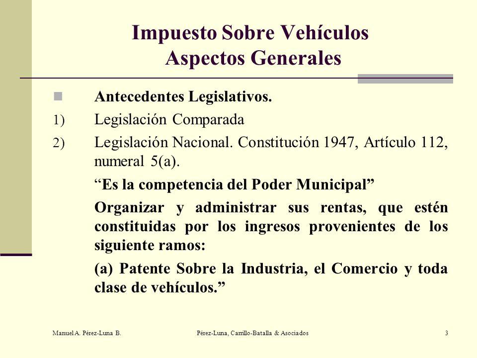 Impuesto Sobre Vehículos Aspectos Generales
