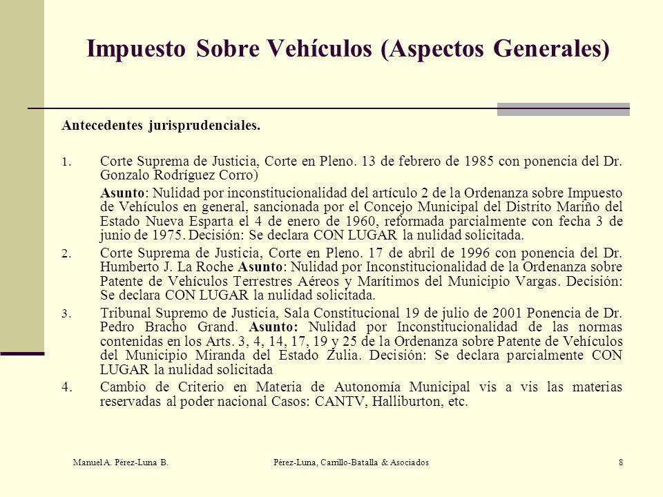 Impuesto Sobre Vehículos (Aspectos Generales)