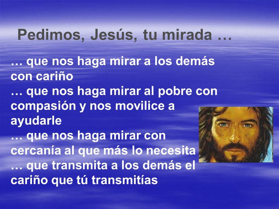 Pedimos, Jesús, tu mirada …