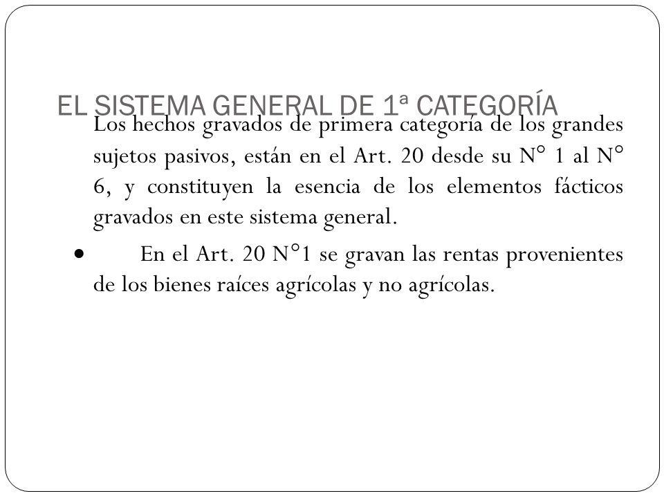 EL SISTEMA GENERAL DE 1ª CATEGORÍA