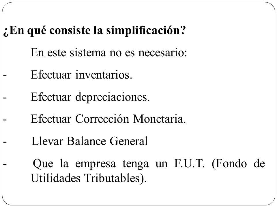 ¿En qué consiste la simplificación