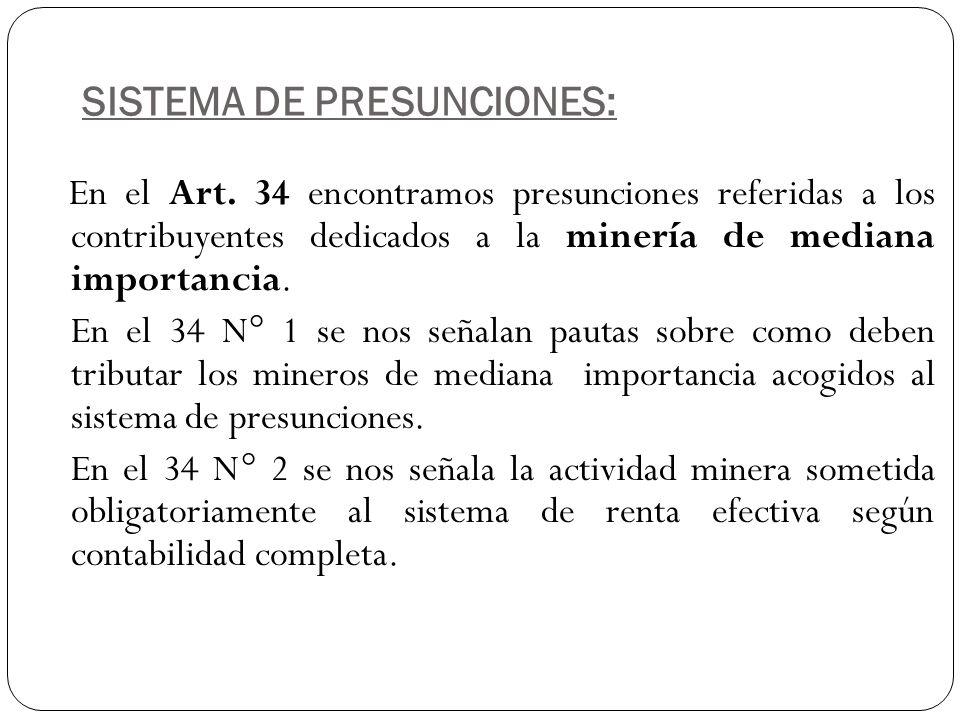 SISTEMA DE PRESUNCIONES: