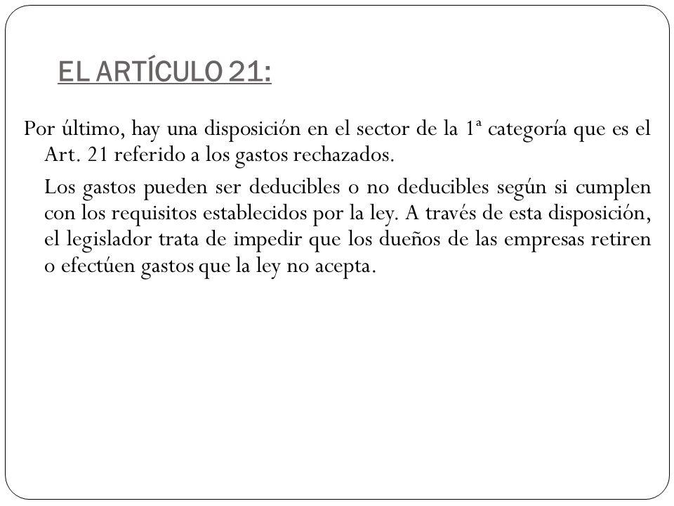 EL ARTÍCULO 21: