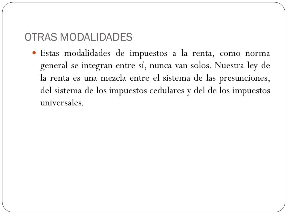 OTRAS MODALIDADES