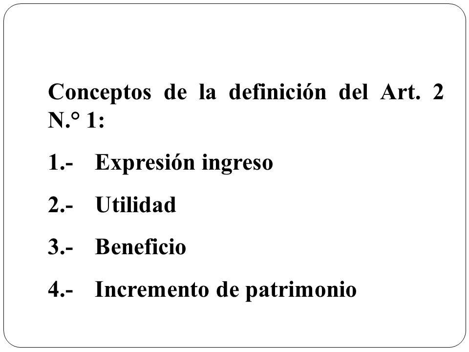Conceptos de la definición del Art. 2 N.° 1:
