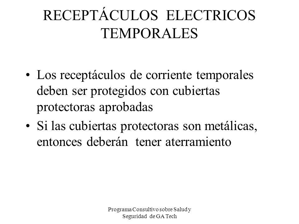 RECEPTÁCULOS ELECTRICOS TEMPORALES