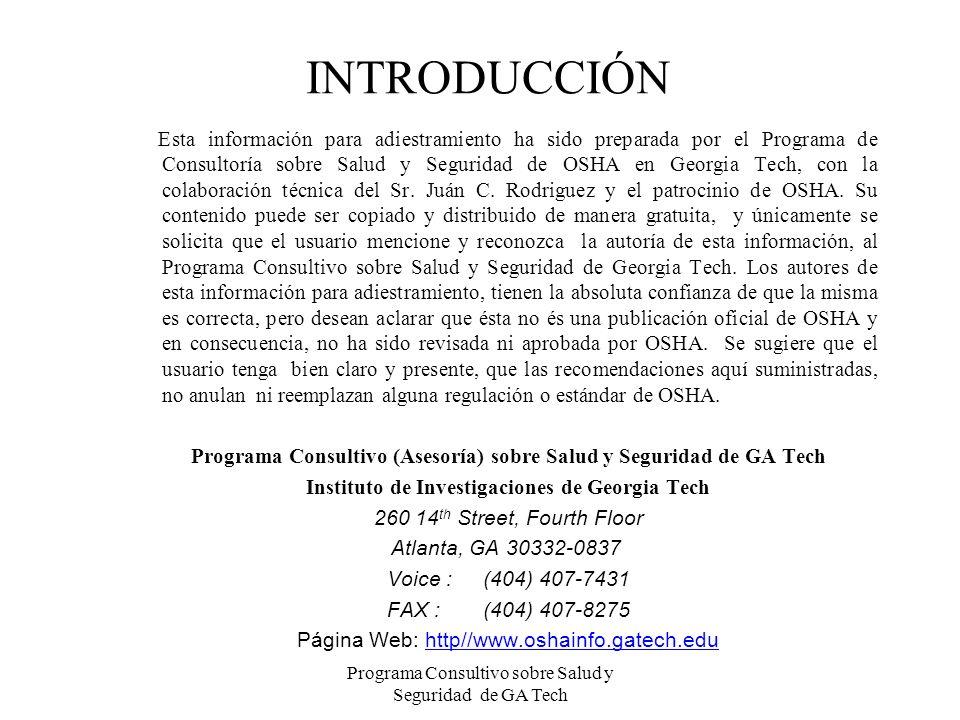 Programa Consultivo sobre Salud y Seguridad de GA Tech