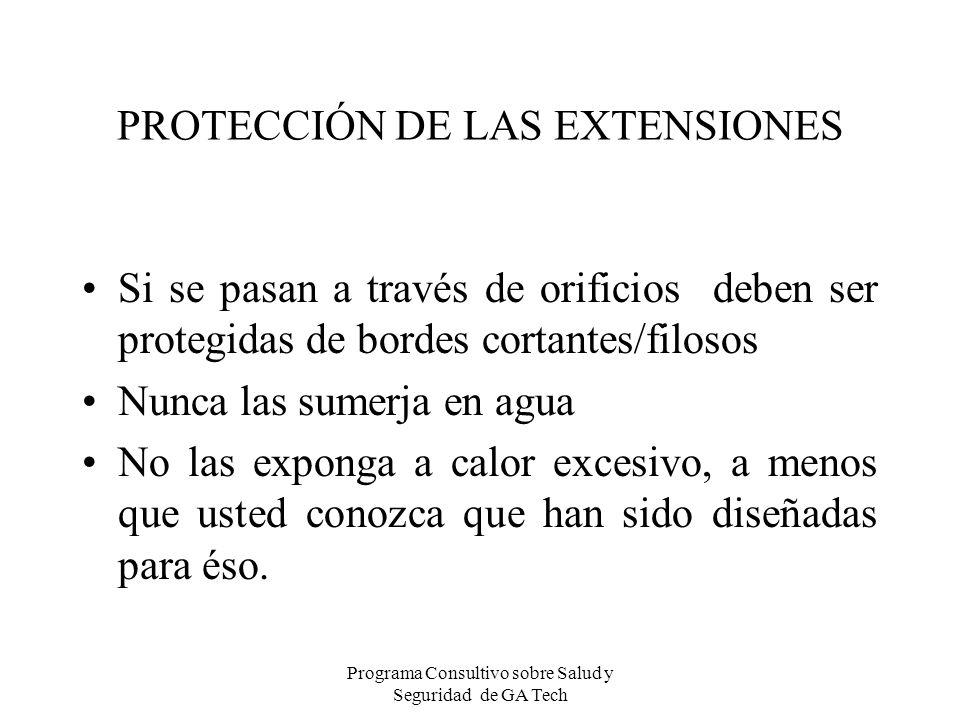 PROTECCIÓN DE LAS EXTENSIONES