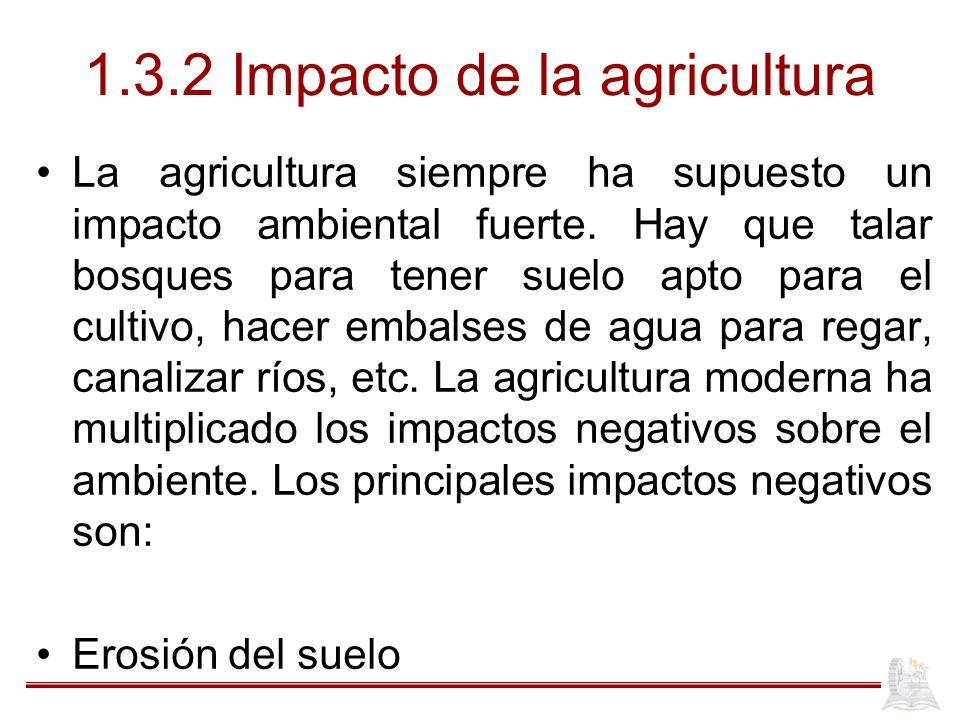 1.3.2 Impacto de la agricultura