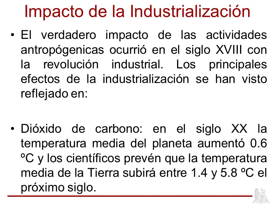 Impacto de la Industrialización
